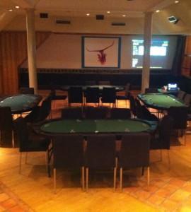 Pokerbord på Tender festvåning Regeringsgatan